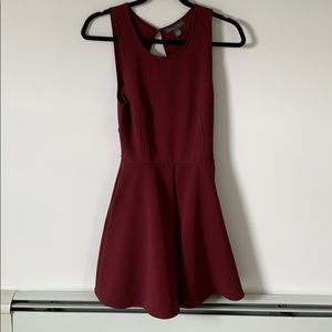Dress with back cutout